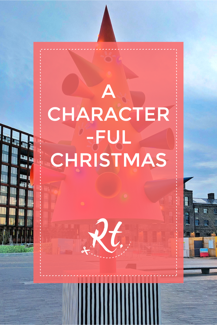 A Characterful Christmas by Rosh Thanki, Colourful Christmas tree in granary square, kings cross by the modern institute