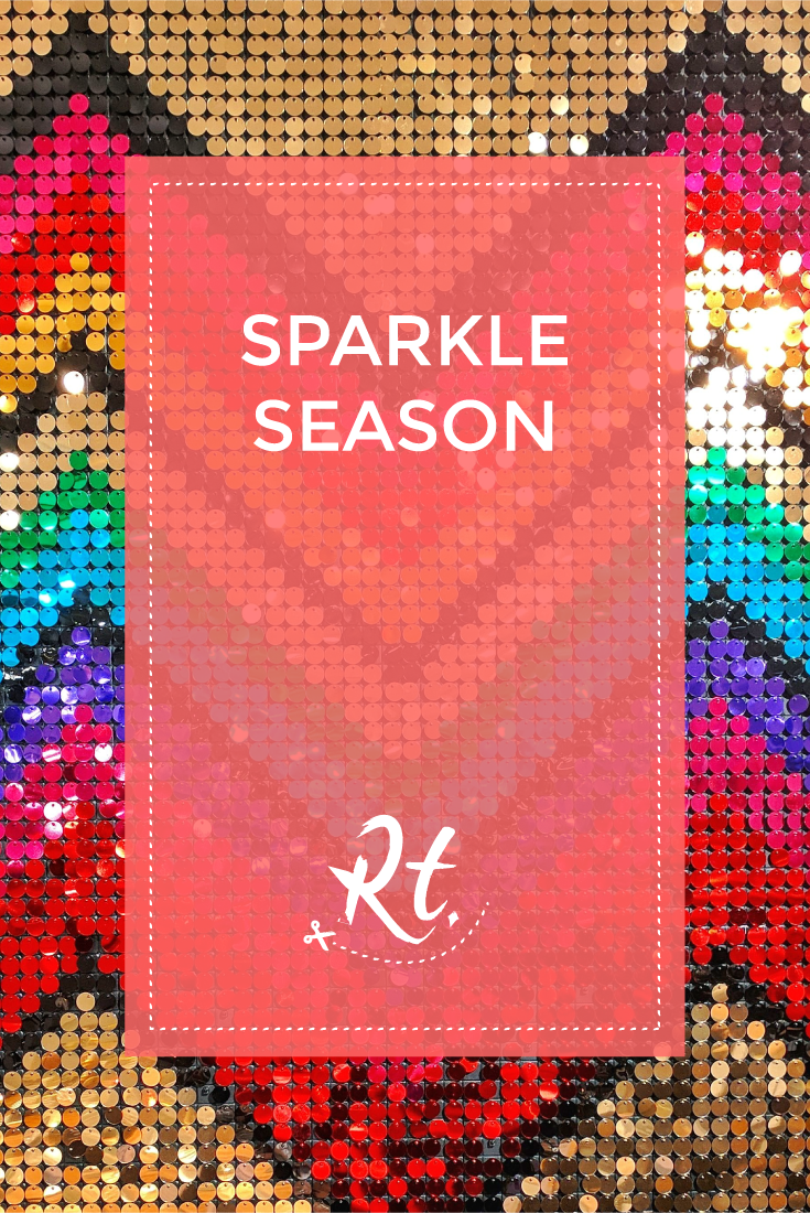 Sparkle Season by Rosh Thanki, habitat UK christmas sequin wall