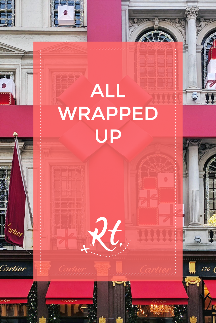 All Wrapped Up by Rosh Thanki, Cartier red bow exterior styling in London