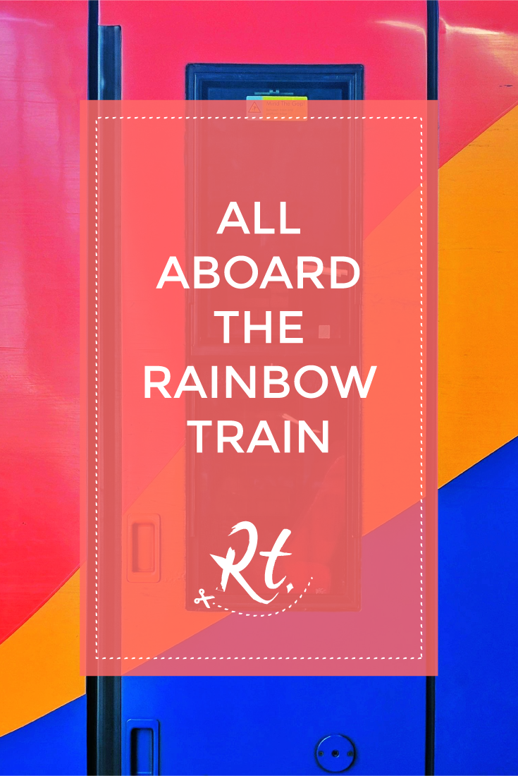 All Aboard the Rainbow Train by Rosh Thanki, south west rainbow train at waterloo station