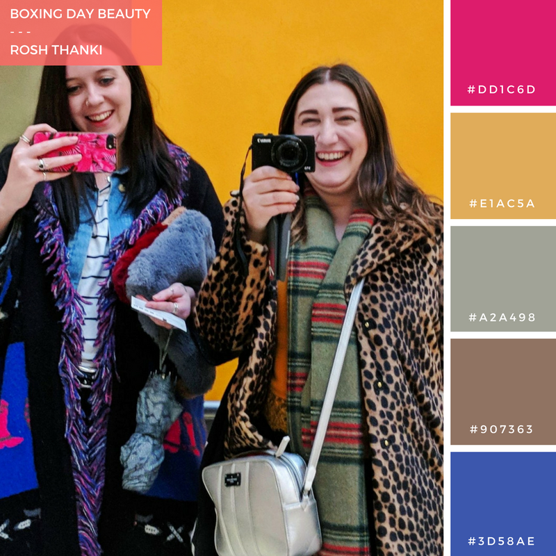 Colour Palette for  Boxing Day Beauty by Rosh Thanki, Natasha Nuttall and Emma Jane Palin at the tate britain