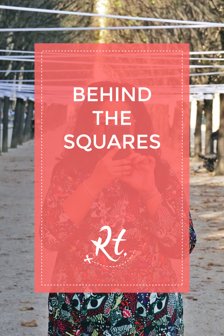 Behind the Squares by Rosh Thanki, monki dress in the jardin du palais royal
