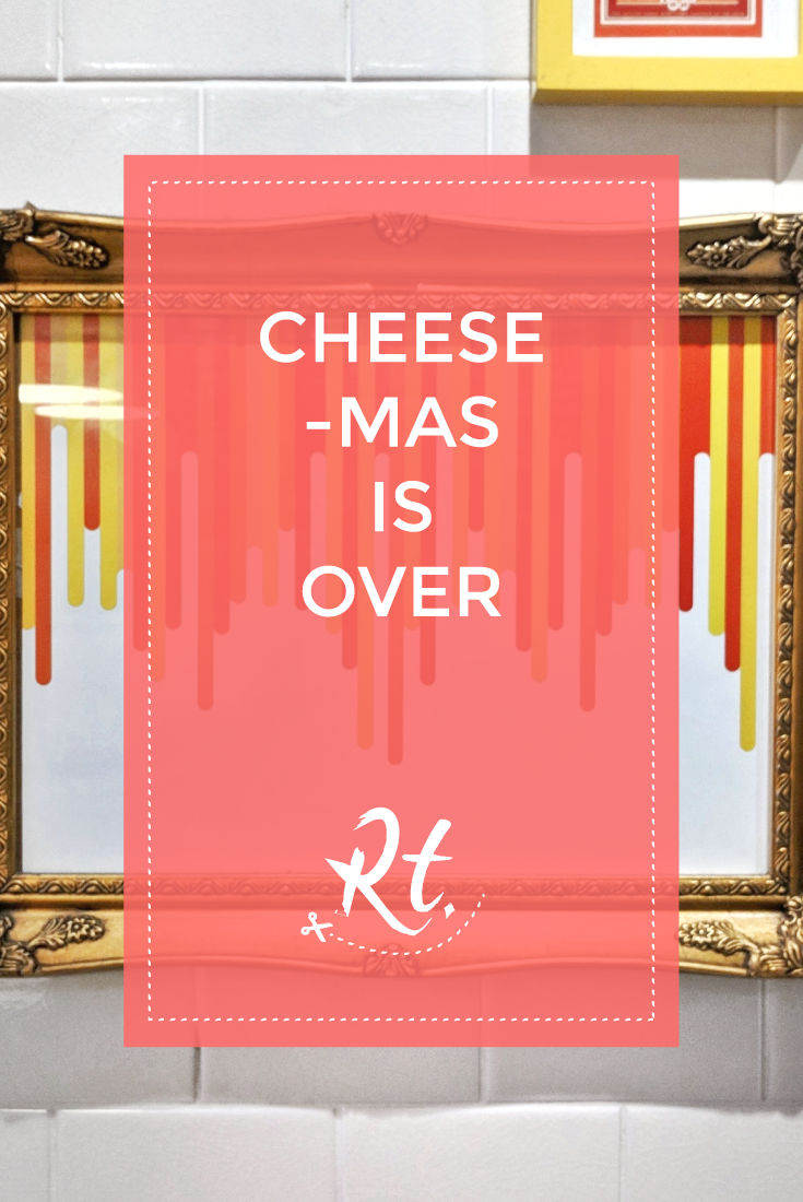 Cheese-Mas Is Over by Rosh Thanki, melted cheese graphic print at The Melt Room