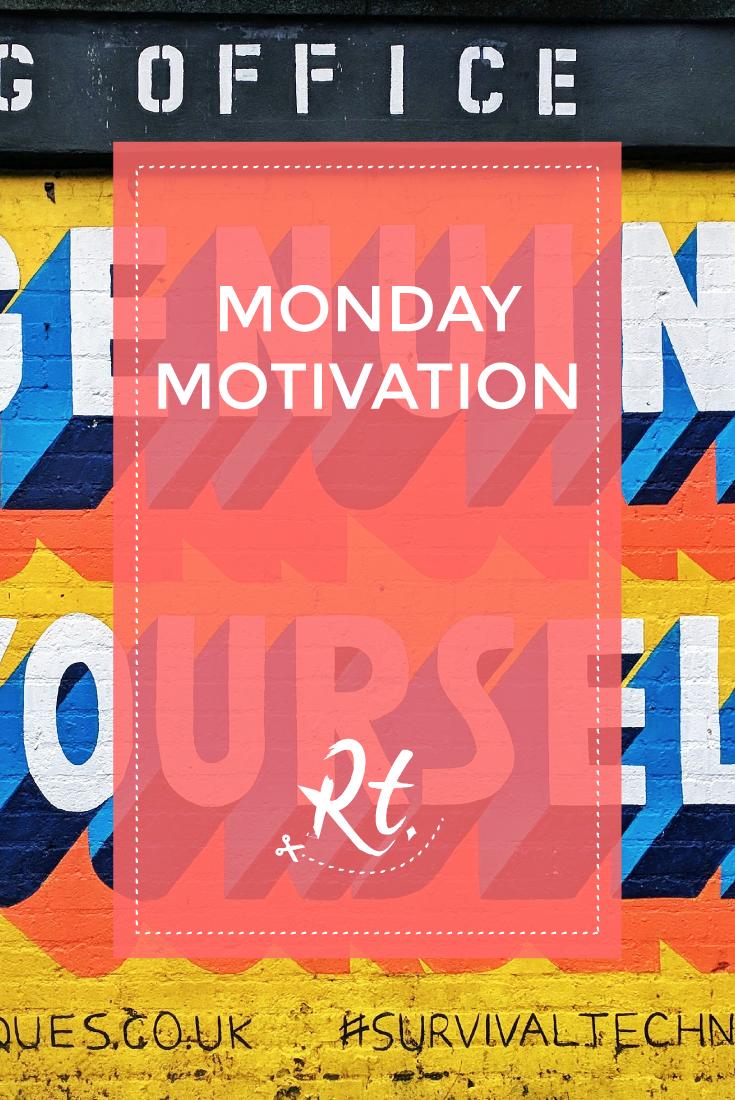 Monday Motivation by Rosh Thanki, Survival Techniques street art in camden by Naomi Edmundson