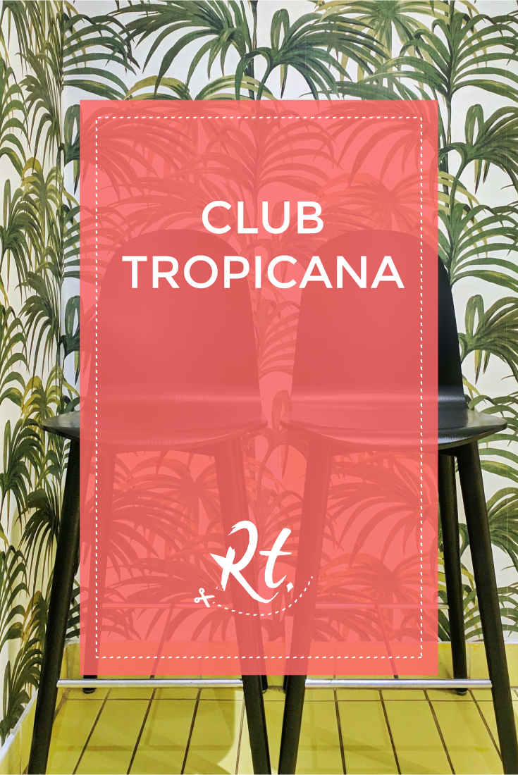 Club Tropicana by Rosh Thanki, Sans Pere cafe with house of hackney wallpaper