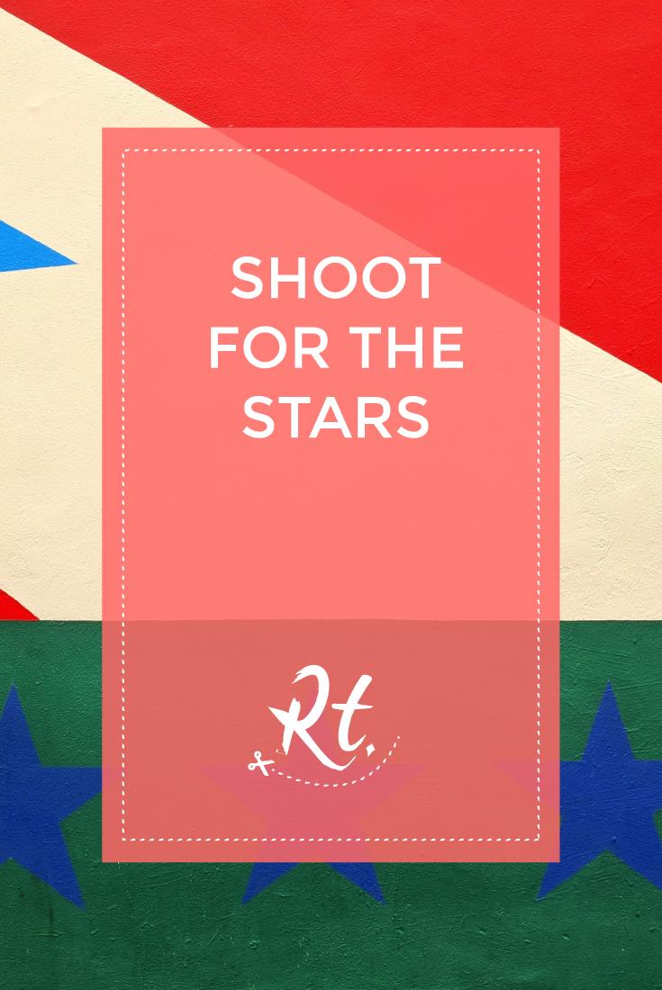 Shoot for the Stars, by Rosh Thanki, stars mural at joe's bar in camden, chalk farm
