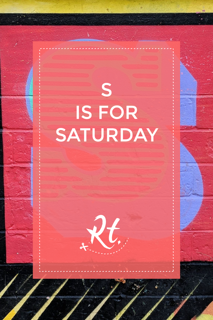 S is for Saturday by Rosh Thanki, S typography by Ben Eine in liverpool street