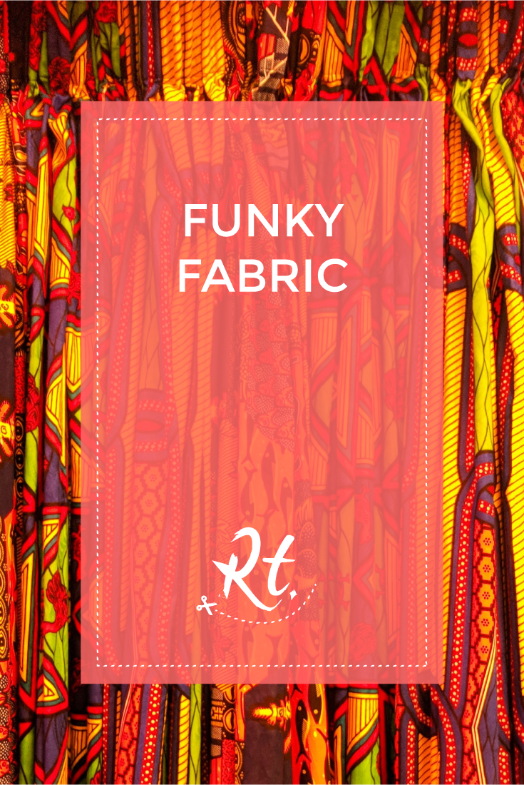 Funky Fabrics by Rosh Thanki, African fabric curtains in peckham levels