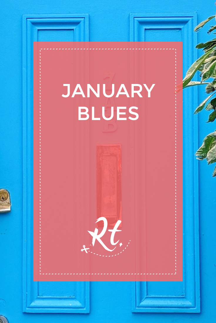 January Blues by Rosh Thanki, blue door at simmons cocktail bar in mornington crescent