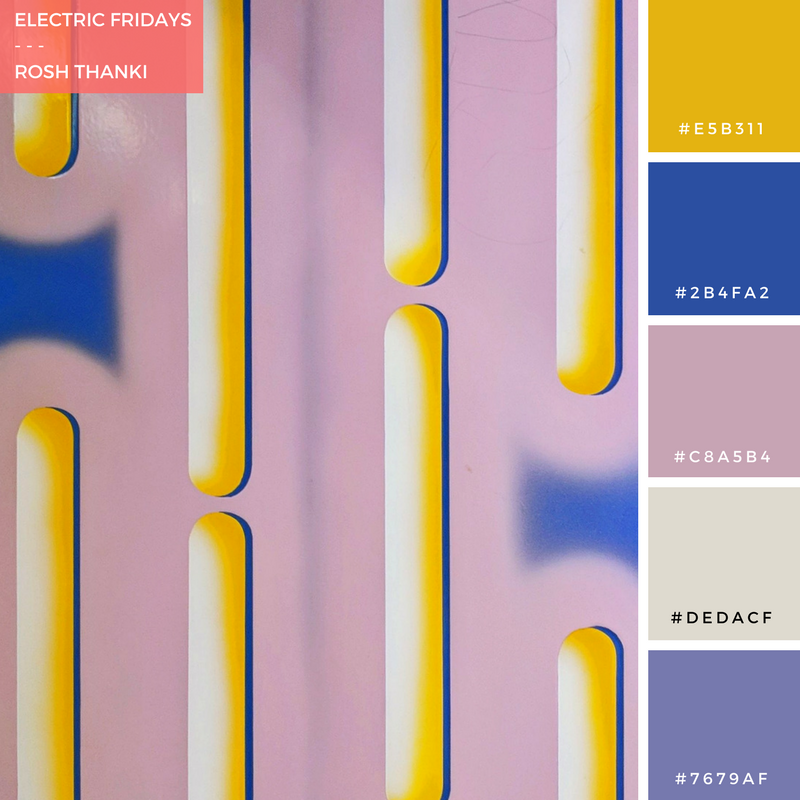 Colour Palette for Electric Fridays by Rosh Thanki, electric art installation at leicester square station.png