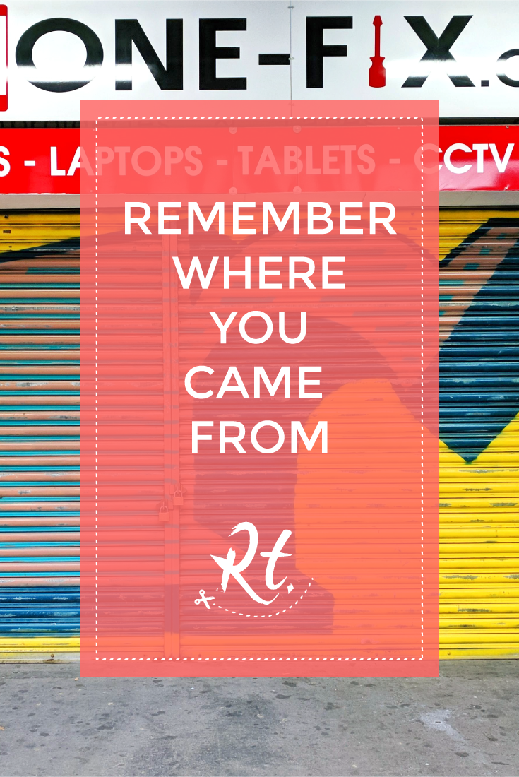Remember Where You Came From by Rosh Thanki, R shutter art by Ben Eine