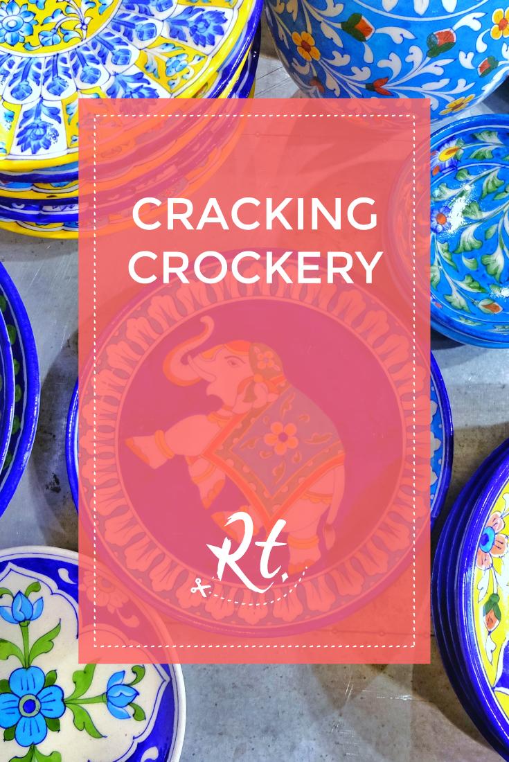 Cracking Crockery, jaipur blue pottery plates at liberty london