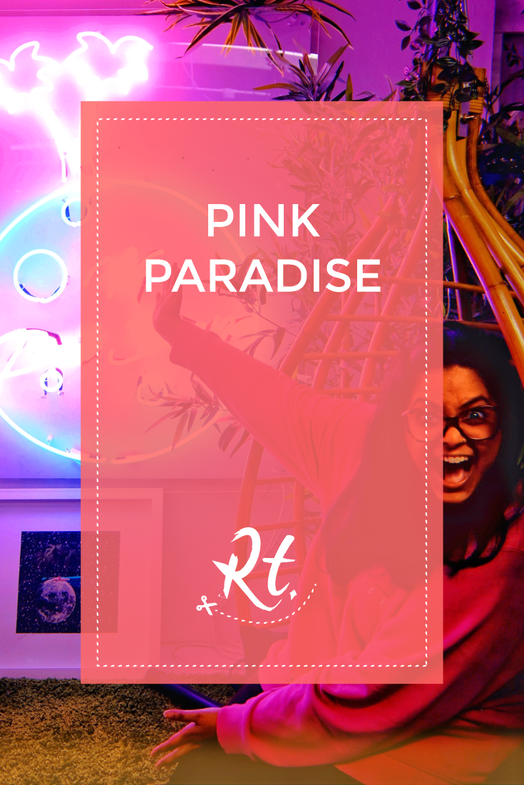 Pink Paradise by Rosh Thanki, no bad days neon installation by Fei Alexeli at the other art fair
