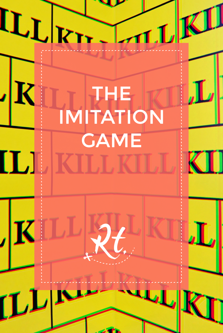 The Imitation Game, by Rosh Thanki, kill bill style wallpaper by Sturtevant at the Thaddaeus Ropac gallery
