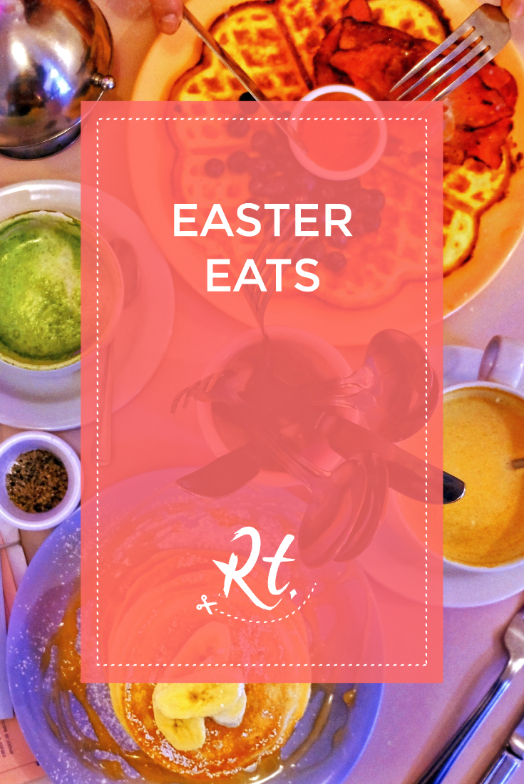 Easter Eats by Rosh Thanki, Cafe Miami breakfast brunch food flatlay