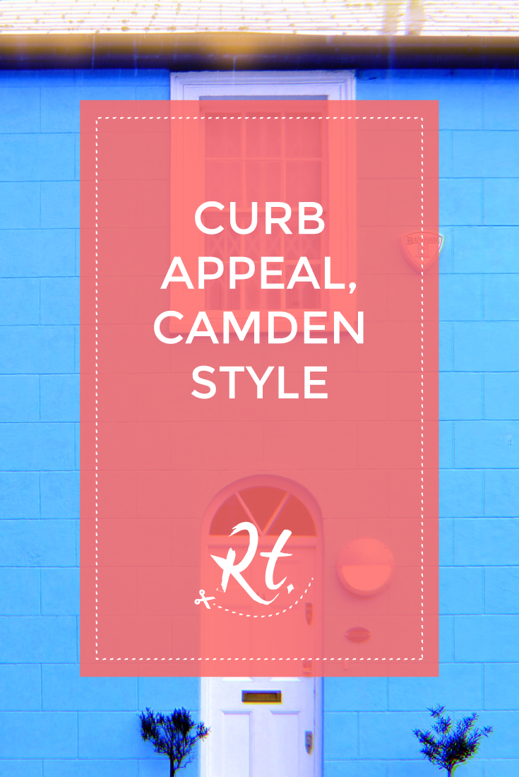Curb Appeal, Camden Style by Rosh Thanki, blue house in camden town