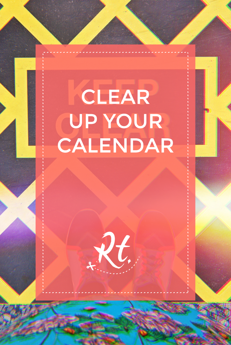 Clear Up Your Calendar by Rosh Thanki, from where I stand keep clear sign at victoria train station.png