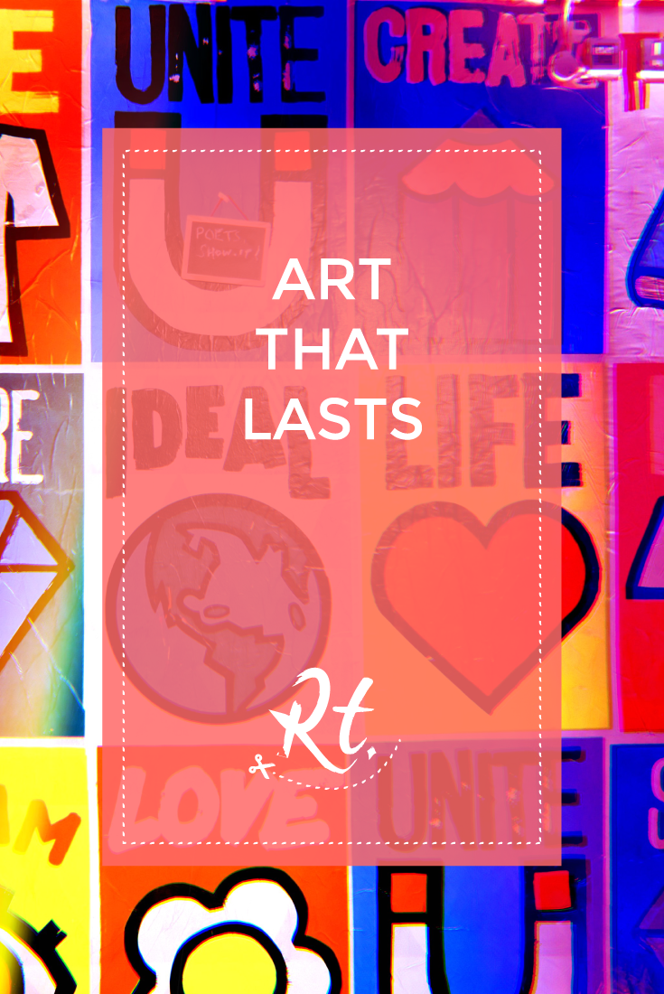 Art that Lasts by Rosh Thanki, Posters by Rare Kind LDN and SHN at Rich Mix London