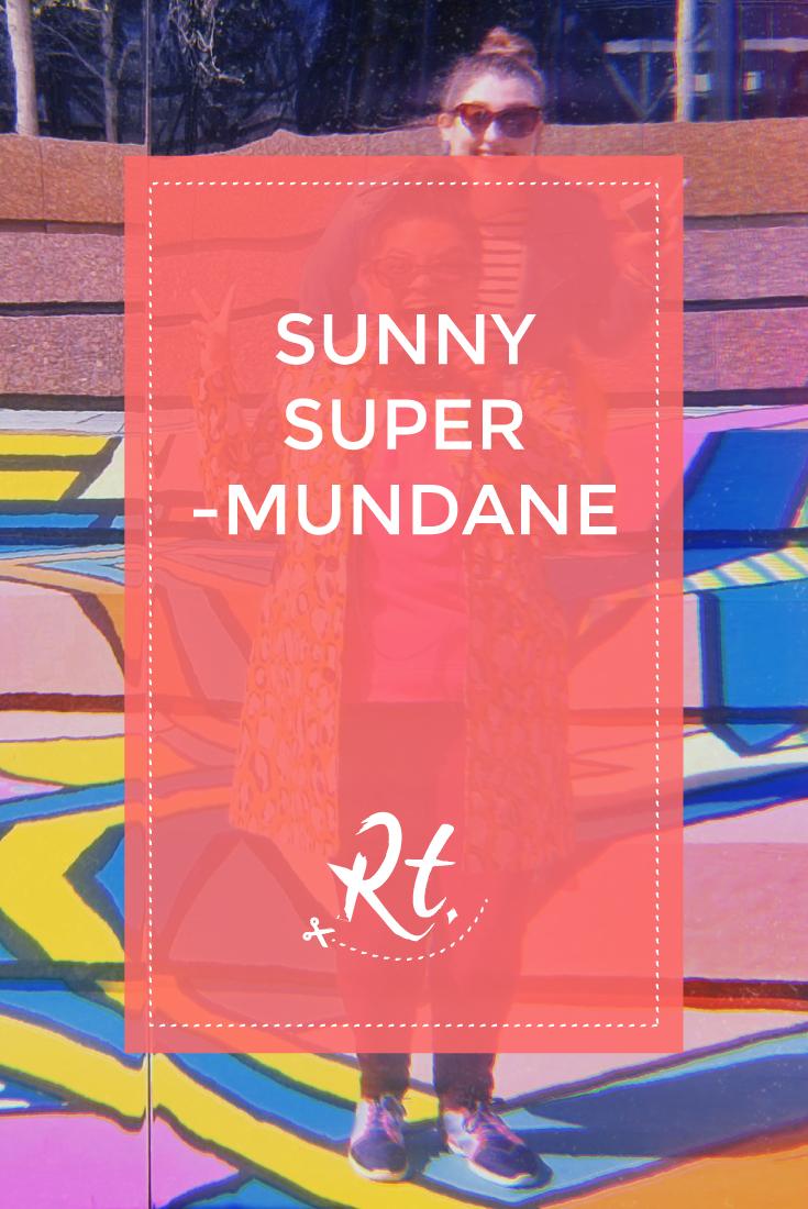 Sunny Supermundane by Rosh Thanki, reflection image of Natasha Nuttall and Rosh Thanki at Broadgate London