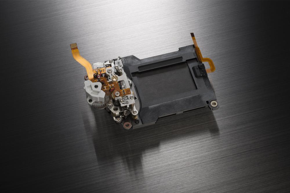 Der neu entwickelte Verschluss der Nikon D810 • Foto: Nikon