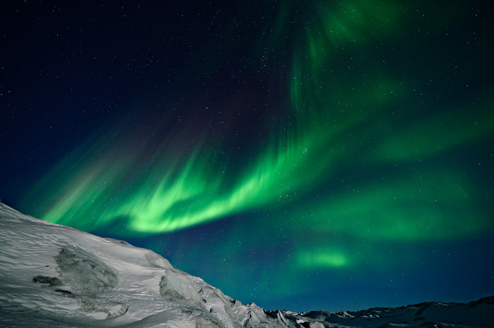 Northern Lights Over The Icecap
