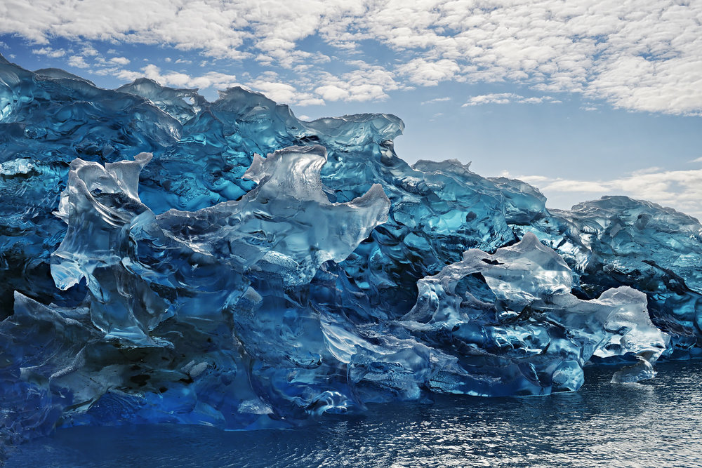Blue Glass Iceberg