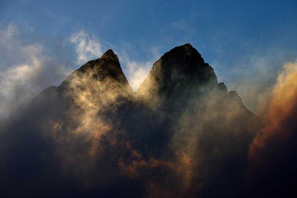 Mountain, Clouds & Midnight Sun