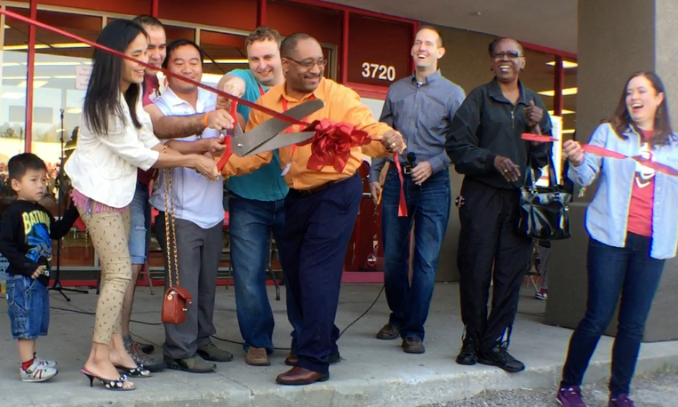 Adelante Thrift's Ribbon Cutting 3 years ago!