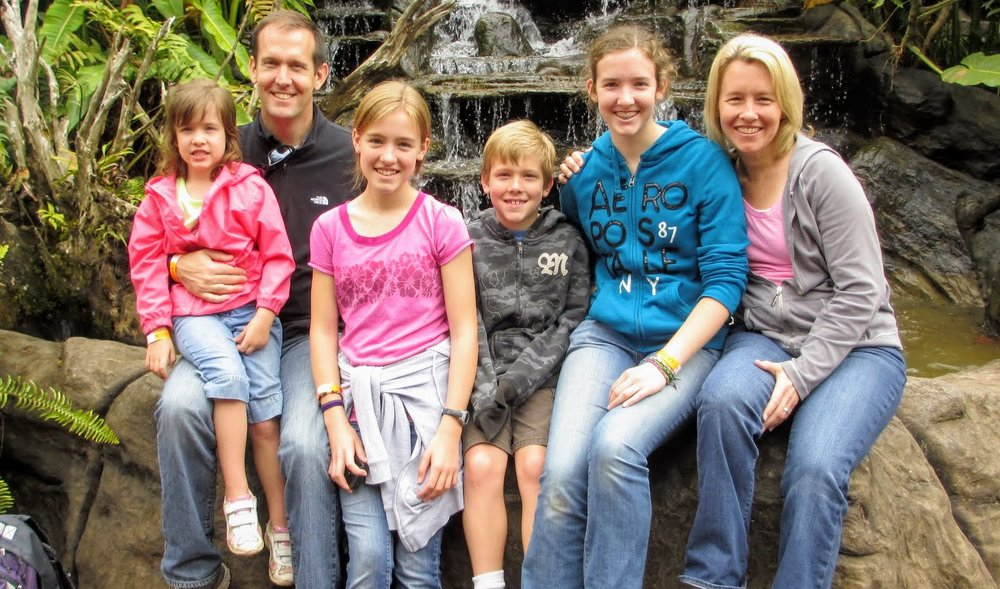 The Meek family on sabbatical in Costa Rica in 2013