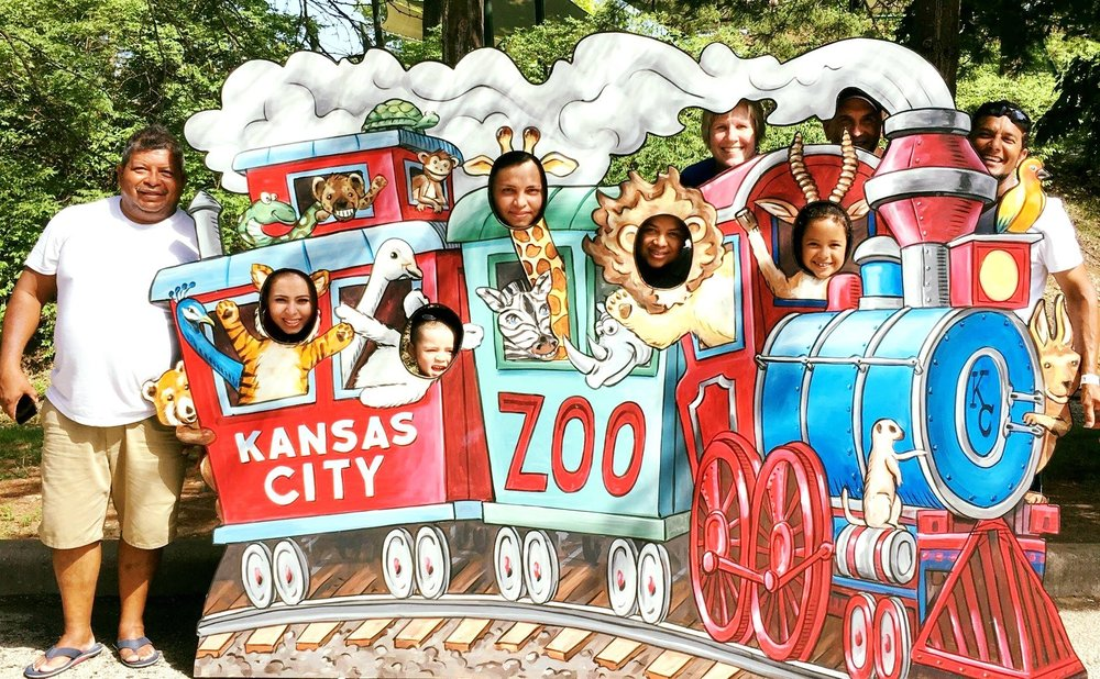 Members of Paul's house church on a recent trip to the Kansas City Zoo.