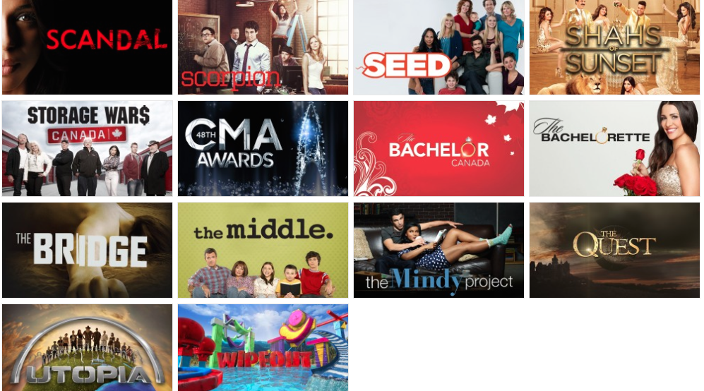 Canadian TV - CityTV Show LineUp 3