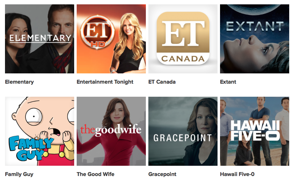 Canadian TV - Global TV Show LineUp 3