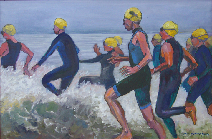 """Sandman: Men's Race"" • oil • 20hx24w"