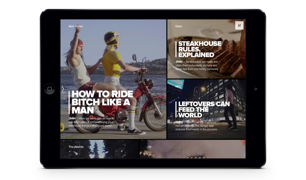 Hyper - A Beautiful Video Magazin iPad App Review Screenshot