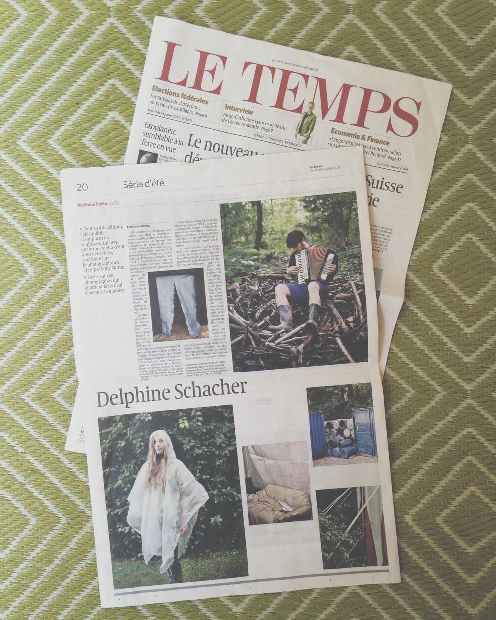 LE TEMPS, vendredi 24 juillet 2015, par Emmanuel Gehrig