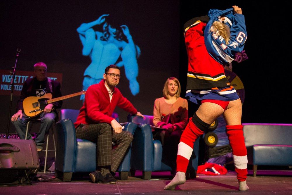 Photo credit: Marc J Chalifoux Photography / Taken at the Edmonton International Fringe Festival Late Night Cabaret