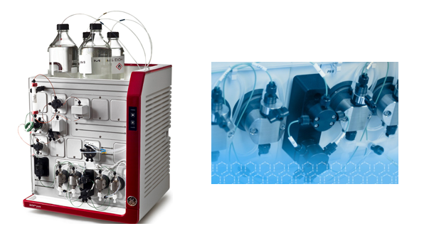 ӒKTA design chromatography system used at PAI Life for process development