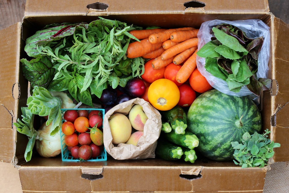 Photo of an Eatwell Farm Box taken by Kia from With Lovely.