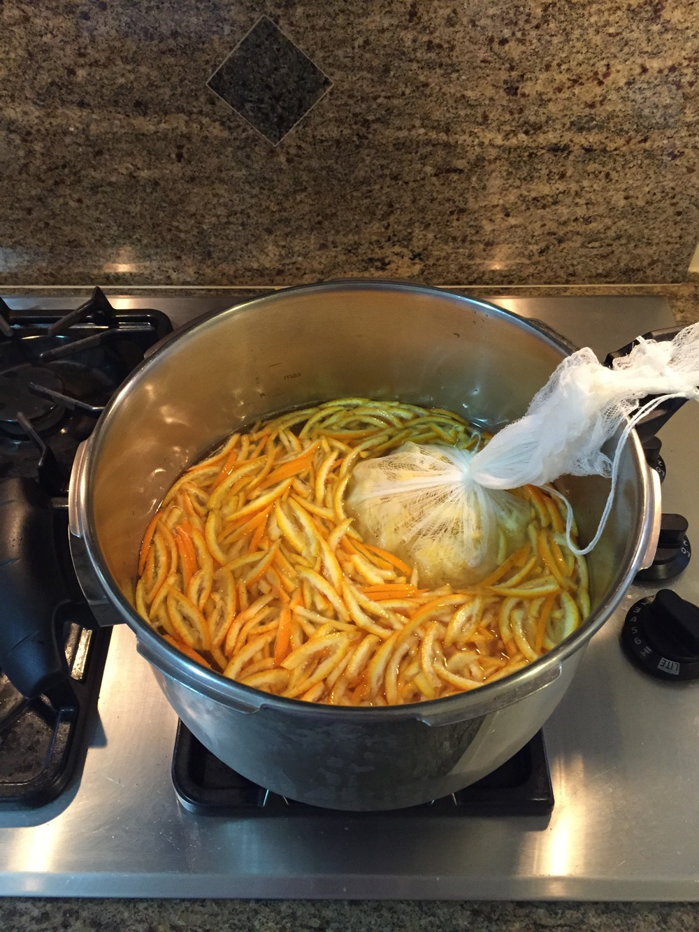 Emma's marmalade in the making