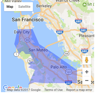 Peninsula Home Delivery: Daly City to Sunnyvale