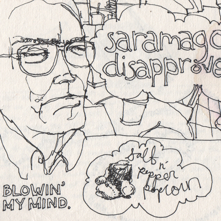 Sketchbook: Saramago Disapproves of your Blind Contour Lines / 2010