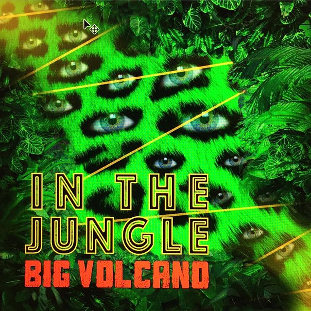 New JUNGLE single coming out soon! It's been too long since we've gotten out of the wild and played out with you! Soon!  #jungle#bigvolcano#brooklyn#brooklynmusic#eyeballs#leopard#fern#green#spots#hollr