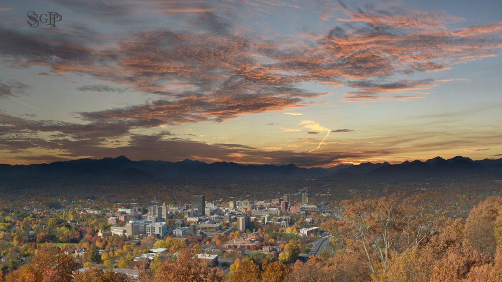 Sunset in Asheville