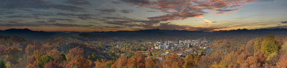 Asheville Fall Sunset