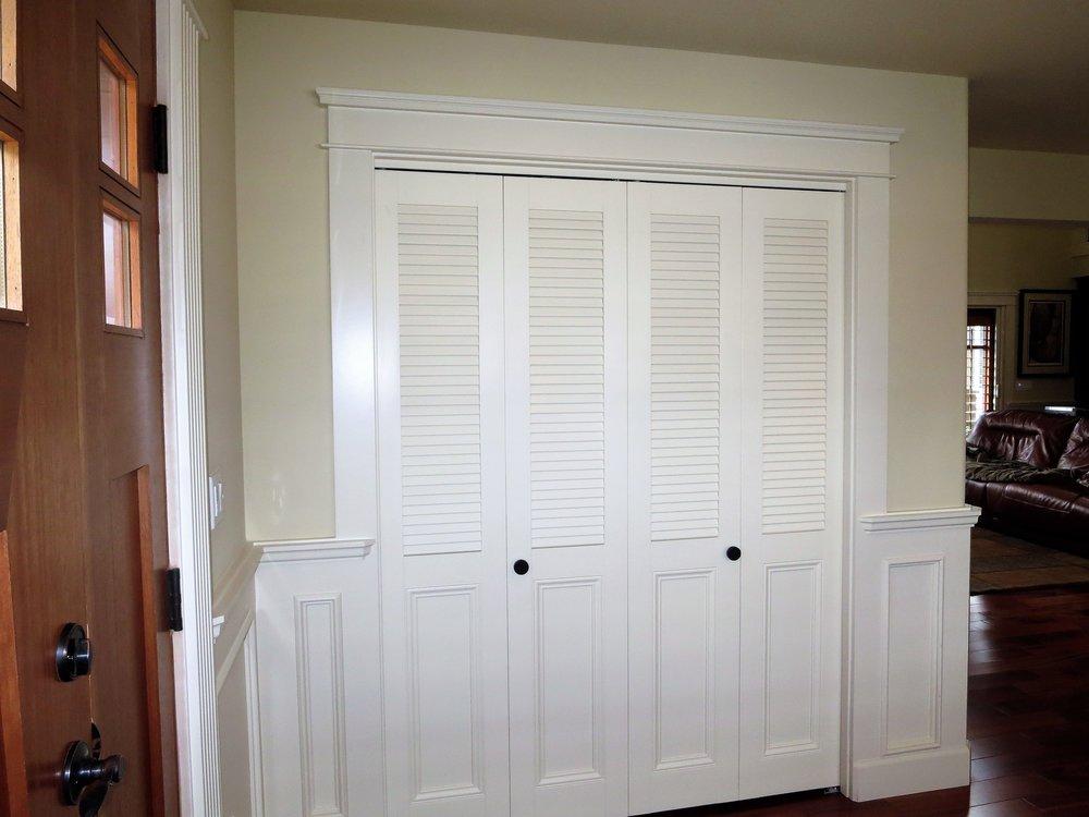 louvered doors 2.JPG & Louver Doors \u0026 Wood Shutters in Seattle Bellevue Sammamish ...