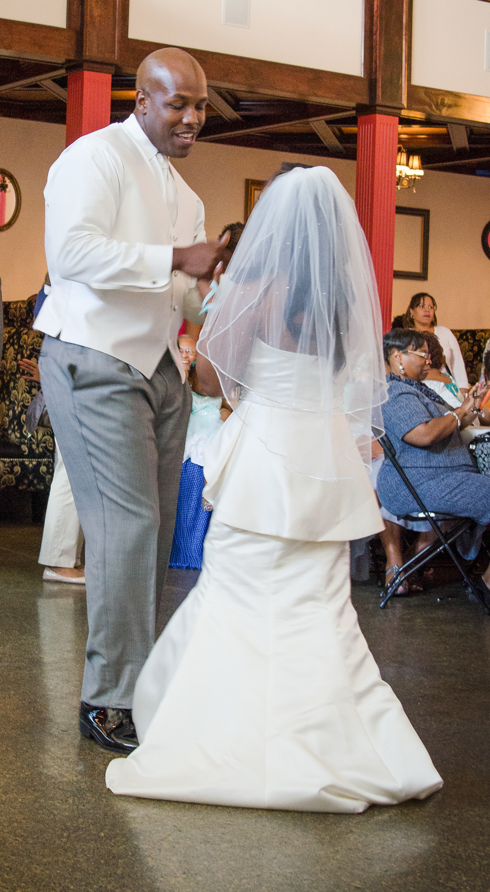 Yes, he was singing to his new wife during their first dance. How awesome is that?!?