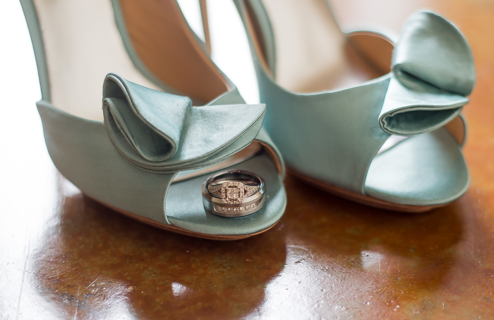 The bride's shoes by Badgley Mischka