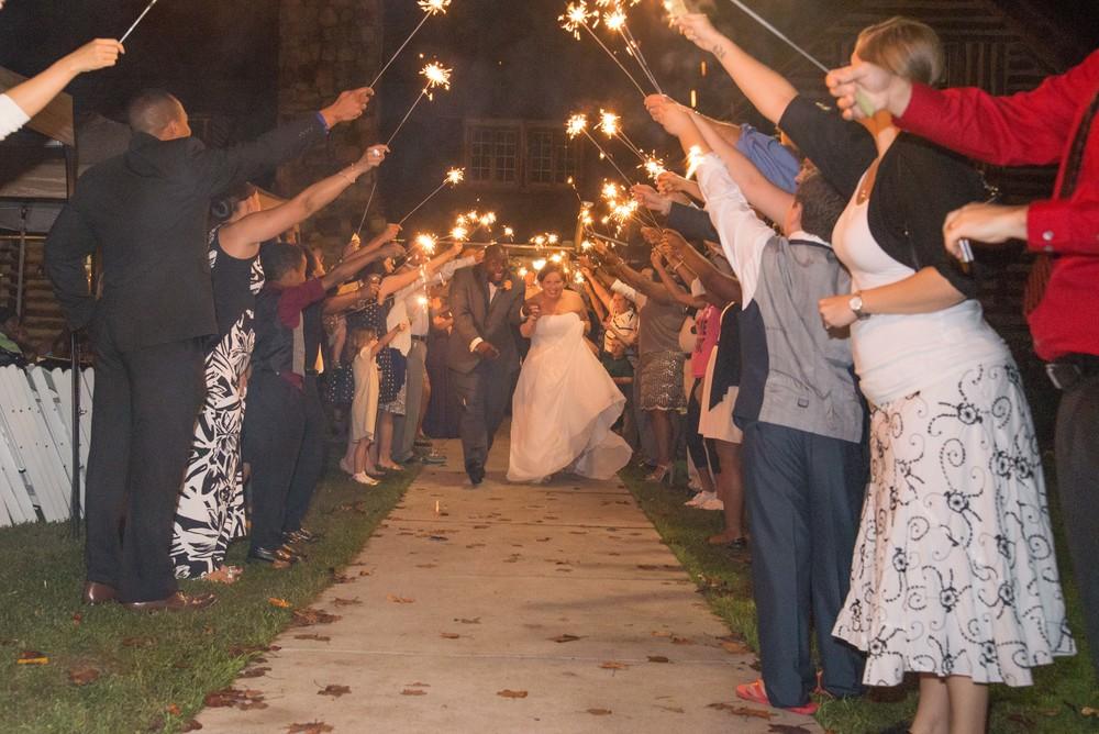 sparkler exit greensboro wedding photographer.jpg