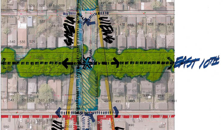 A portion of the concept plan developed in collaboration with city staff.