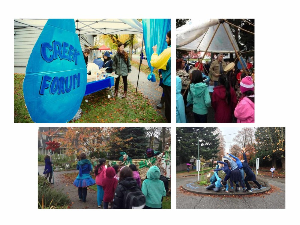 The Creek Forum was a great success – engaging students from Mt Pleasant and Florence Nightingale elementary schools as well as other community members in design, art, ecology, and storytelling activities.